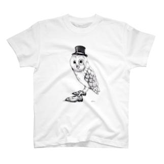 紳士的なふくろう T-shirts