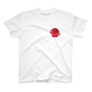 「赤」丸デザイン T-shirts
