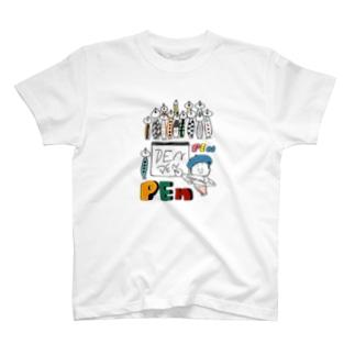 (わーくわくシリーズ)illustratorさん(Pen好き) Tシャツ