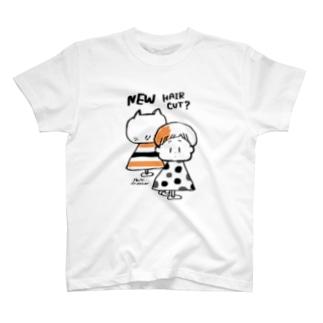 (わーくわくシリーズ)hair dresserさん(orange) Tシャツ