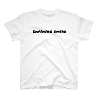あさみんSHOP(いっ福商店)のinfinite smile(ねじり:黒) T-shirts