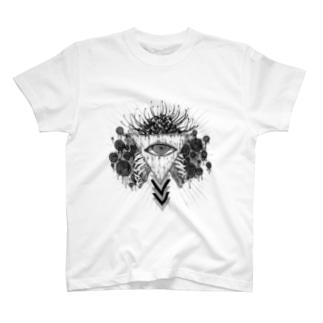 目毒(黒) T-shirts