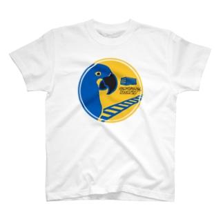 ムクデザインのスミレコンゴウインコの鉄道輸送会社 T-shirts