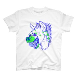 blue green Hyena T-shirts