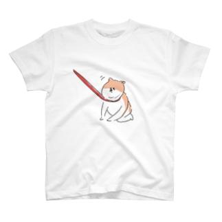 散歩イヤイヤワンちゃん T-shirts