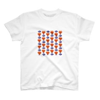 きつねと葉っぱ T-shirts