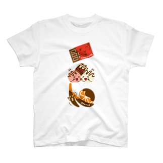 スイーツタイム-チョコ・トリュフ・オランジェ-sweets time-スイーツタイム- T-shirts