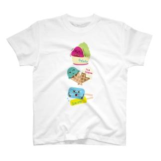 スイーツタイム-アイスキャンディー・アイスクリーム・ジェラート-sweets time-スイーツタイム- T-shirts