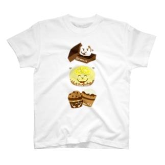 スイーツタイム-ブラウニー・ レモンケーキ・マフィン-sweets time-スイーツタイム- T-shirts