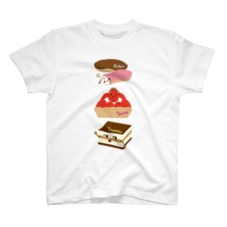 スイーツタイム-エクレア・タルト・ティラミス-sweets time-スイーツタイム- T-shirts