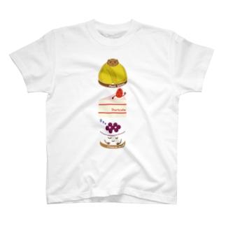 スイーツタイム-モンブラン・ショートケーキ・チーズケーキ-sweets time-スイーツタイム- T-shirts