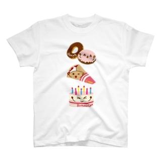 スイーツタイム-ドーナッツ・クレープ・誕生日ケーキ-sweets time-スイーツタイム- T-shirts