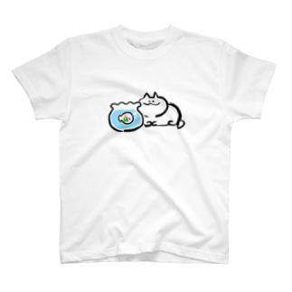 おさかなとお友達 T-shirts