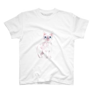 ピンク猫 T-shirts