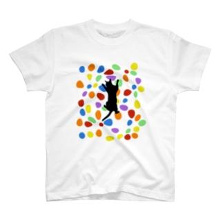 ボルダリングねこ T-shirts