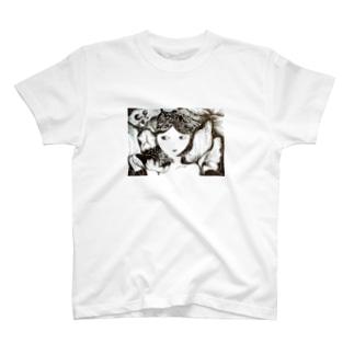 目がサカナの女のこ T-shirts