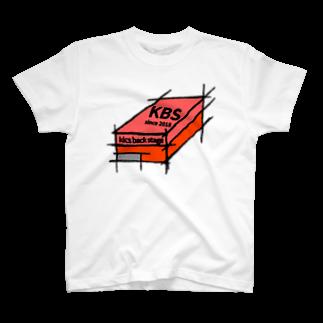 kicsbackstageのKBS shoe box tee T-shirts