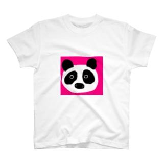 パンダ@ピンク T-shirts