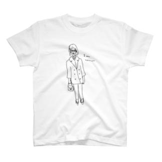 I am woman レトロガール T-shirts