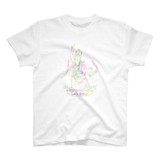 ダンシング観音 T-shirts