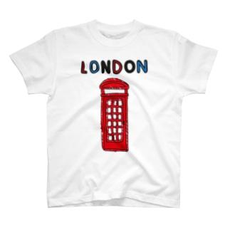 ロンドン電話ボックス T-shirts