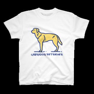 ぽっぷんすたんぷ -POP'N STAMP-のラブラドール・レトリバー・LABRADOR RETRIEVER T-shirts