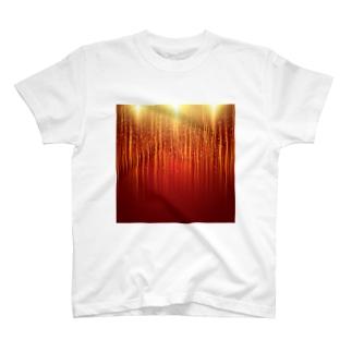 オレンジ色の光の雨! T-shirts