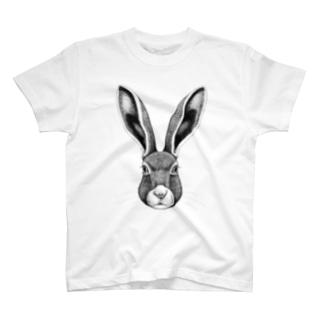 野ウサギ T-shirts