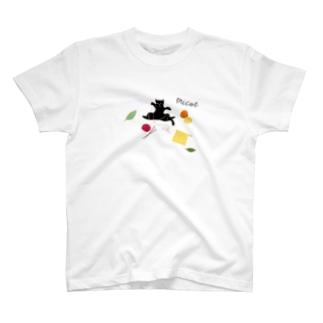 猫ごっこ-毛糸 T-shirts