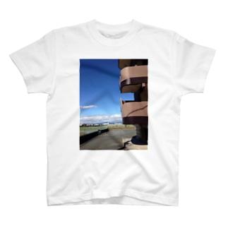 晩秋の青空 T-shirts