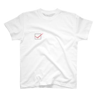 チェックマーク T-shirts