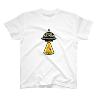 UFO★キャトルミューティレーション-宇宙人乗車中 T-shirts