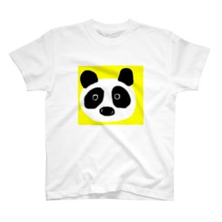パンダ@イエロー T-shirts