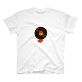 レコードリお日様 -Right Walk T-shirts