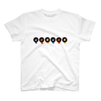 レコードリ数珠つなぎ(月夜-お日様-秋の滝) -Left Walk T-shirts