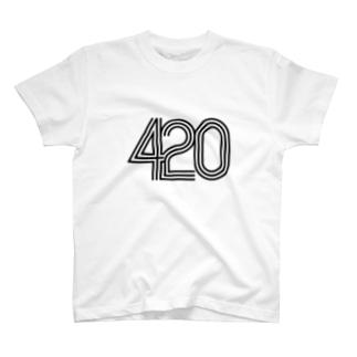 420 tri line T-shirts