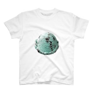 チョコミントアイスアイテム T-shirts