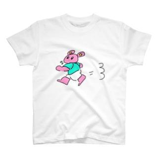 走るうさぎ T-shirts