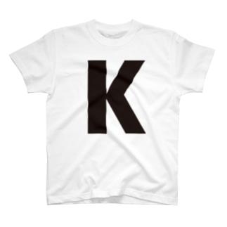 alphabet-simple:sans serif-K T-shirts