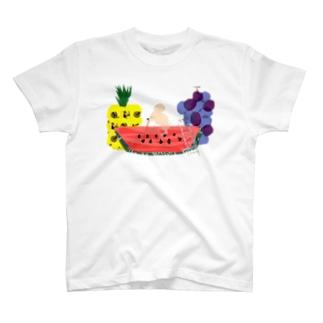 スイカ大好きネズミさん T-shirts