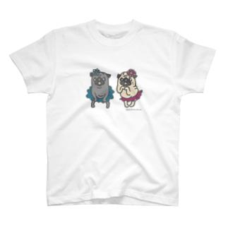 おなかぽよんアイドルパグちゃん☆ T-shirts