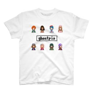 超水道のghostpia ショートスリーブTシャツ 【Which girl do you like?】(5000円バージョン) T-shirts