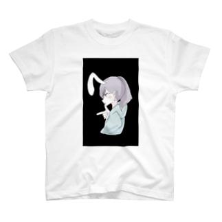 ラムネのラムちゃん black T-shirts