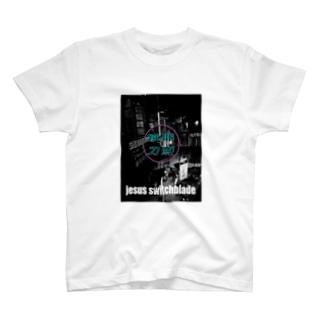 耶蘇グラフィック跳刀 T-shirts