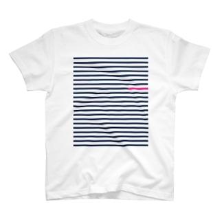 ピンクボーダー T-shirts