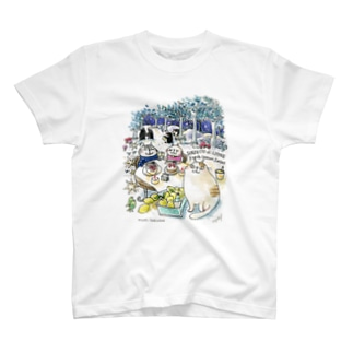 CatChips森のカフェ T-shirts
