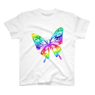 極楽蝶・虹 T-shirts