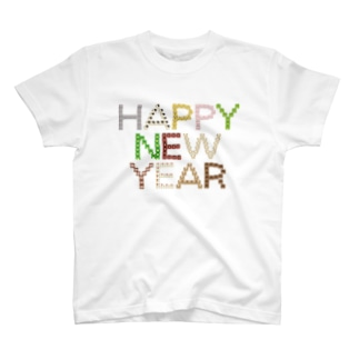 干支文字-十二支-HAPPY NEW YEAR-animal up-アニマルアップ- T-shirts