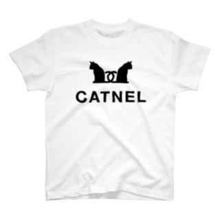 CATNEL キャット寝る 寝起き直後 T-shirts