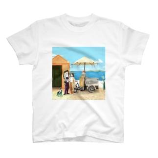 サントリーニ島で1番のアイスクリーム屋 T-shirts